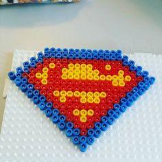 Superman logo hama beads by lillycharlottetvedt