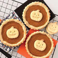 Miniature-sized tarts filled with rich pumpkin custard.