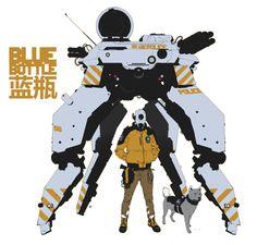 Calum Alexander Watt artwork. (via Calum Alexander Watt)  More robots here.