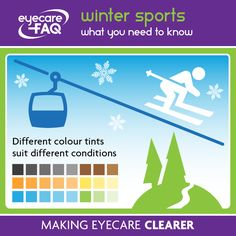 4ebb1eb220f Sports eyewear · Different tints can help you see icy patches and shield your  eyes in bright conditions Optician