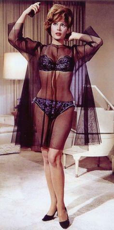 Jill St. John.Negligee . Lingerie . Vintage