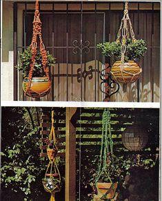 I like macrame plant hangers