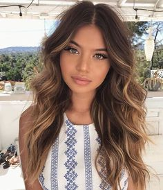 Did you know that brunettes make up the majority of people's hair color? While brunettes might be the most common of the hair colors, brunettes are actually very diverse; Hair Color And Cut, Brown Hair Colors, Brunnete Hair Color, Brown Hair Balayage, Hair Highlights, Balayage Brunette Long, Bayalage, Hair Day, New Hair