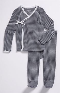 Ralph Lauren Stripe Kimono Two-Piece Set (Baby) available at #Nordstrom