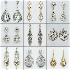 wedding earrings ~ from studs to chandelier earrings, boho chic to vintage glam some of our best selling bridal earrings. Customer <3 @perfectdetails