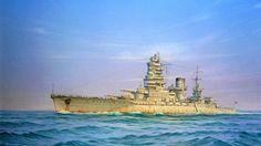 Acorazado Mutsu 1921, hundido en el Puerto de Hiroshima 1943 (2)