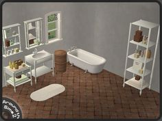 Sims 2 Creations By Tara: Spring Bath | Sims 2 Download Bathroom, Badezimmer