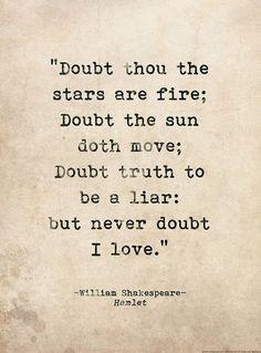 Shakespeare. On love. Writing.
