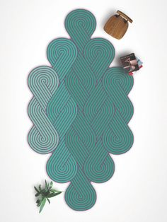 Handmade #rug with optical pattern TRESSE by CHEVALIER ÉDITION | #design Samuel Accoceberry