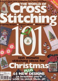 The World of Cross Stitching Issue 1 patterns pinned