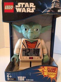 Lego Star Wars Yoda Jedi Minifigure Kids Alarm Clock Sealed NIB 830659003080 #LEGO #Novelty