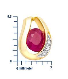 Miore - MH8013E - Boucles d'Oreille Femme - Or Jaune 18 Cts 750/1000 1.8 Gr - Rubis: Amazon.fr: Bijoux