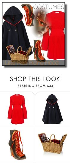 """""""Red Riding Hood"""" by nusongbird ❤ liked on Polyvore featuring TIBI, Steve Madden and Picnic Time"""