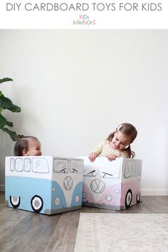 creative cardboard play - Cardboard Box , creative cardboard play little vw bus box cars made from cardboard! Cardboard Bus, Cardboard Furniture, Diy Crafts Cardboard, Bus Crafts, Carton Diy, Diy Karton, Diy Box, Box Design, Diy Home