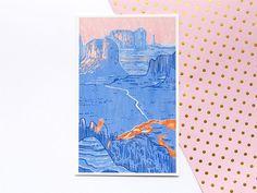 Creamy Desert Illustration Print  Wall Art  Home Decor