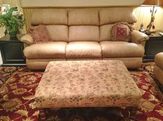 Watercress Springs Estate Sales » Silvermine Estate Sale - Watercress Springs Estate Sales - Reclining Leather Sofa and Ottoman