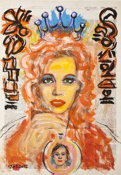 Vampire Bella, December 6, 2011, Single Sheets, Tempera, Mixed Media Art, Saatchi Art, Original Paintings, December, Princess Zelda, Creative, Fictional Characters
