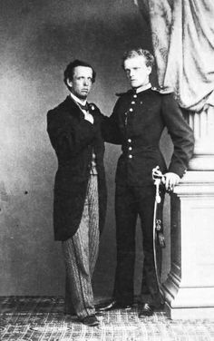Luigi di Trani ed il cognato,fratello di Sissi.