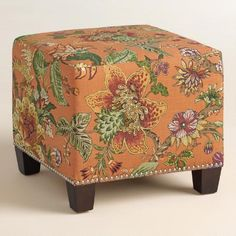 One of my favorite discoveries at WorldMarket.com: Garrison McKenzie Upholstered Ottoman