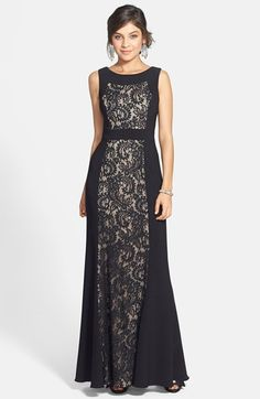 JS Collections Ottoman & Lace Scoop Back Gown available at #Nordstrom