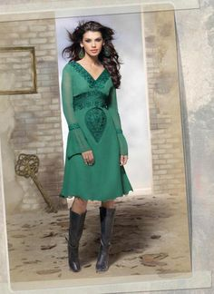 Incredible Princess Cut Kurti Style in Green The lovely Resham work a significant feature of this attire. Buy Online Designer Kurtis, Party Wear, Wedding Wear, Kitty Party Wear, Casual Wear, Kurti, Readymade material, Daily Wear, Indian Kurti, Kurta For women. We have large range of Kurti designs in our website with the best pricing and unique designs shipping to (UK, USA, India, Germany, UAE, Canada, Singapore, Australia, Mauritius, New Zealand) world wide.