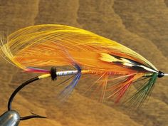 Atlantic Salmon Fly in Fly tying Vise, Canada.  by Keith Douglas.  #fishing #fly #salmon