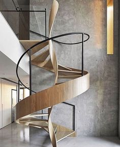 Use these awesome spiral staircase in your home. Over thirty spiral staircase ideas you can implement in your design. Feed your design ideas now. Timber Staircase, Staircase Design, Spiral Staircases, Staircase Ideas, Staircase Outdoor, Rustic Staircase, House Staircase, Stair Design, Staircase Remodel