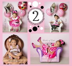 2 year old minnie mouse themed portraits