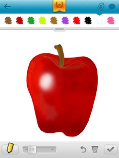 By Jess Bozzy on Draw Something 2, unseen drawing, apple, realistic