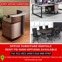 OUR SERVICES Furniture on Rental Rental and Rent to own options on NEW furniture – minimum of 000 (vat inc) to qualify 3 / 4 / 5 year terms only Any amount below the miniumum we offer Rental solutions on our quality used furniture. Any term allowed Used Office Furniture, Business Furniture, Furniture Layout, New Furniture, Rental Solutions, New Carpet, Curtains With Blinds, Cabinet Doors, Interior Design