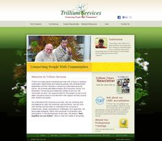 Web design for Trillium Services. Faster Solutions: www.fastersolutions.com