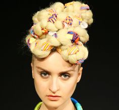 Big braided hair at Mara Hoffman - NYFW S/S12