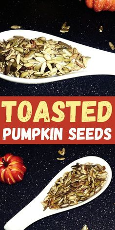 Toasted pumpkin seeds ( pepitas ) are the best fall snacks! You will love this simple and delicious fall appetizer!