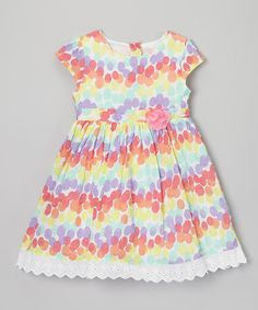 Take a look at this Rainbow Polka Dot Dress - Toddler & Girls on zulily today!