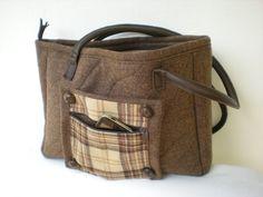 """Handtasche - Tasche aus Wollstoff braun """" Herbstlaub"""" - ein Designerstück von Gasani bei DaWanda"""