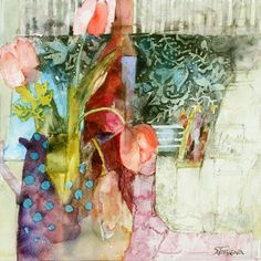 Still Life with Blue Spots by Shirley Trevena