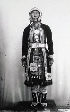 Russia | Tungus girl in fancy dress. Siberia. ca. 1901 | © Taken during the Jesup North Pacific Expedition; photographer Waldemar Jochelson