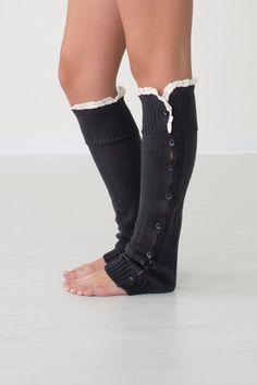 charcoal leg warmers
