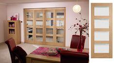 Internal Bifold Doors: Superb Value Concertina Folding Doors Shaker Style Interior Doors, Door Design Interior, Modern Interior, Wooden Glass Door, White Wooden Doors, Internal Folding Doors, Room Divider Doors, Solid Doors, Double Doors