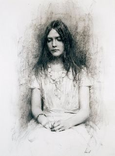 richard schmid, charcoal drawing portrait by deflam, via Flickr