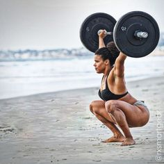 firstdarkace:  mocha-spotz:  crossfitters:  Elisabeth Akinwale.@Rx Smart Gear photo  My goal by December  Just getting this down to the beach was a workout.