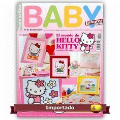 Revista Ponto Cruz Baby  nº 61  Idioma em Espanhol   - El mundo de Hello Kitty a punto de Cruz   Fabricante:  Alternativas