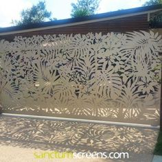 Explore a select gallery of just a few of the thousands of screening and gate projects that Sanctum has completed over many years Custom Gates, Fence Screening, Grades, House Goals, Backyard Landscaping, Laser Cutting, Screens, Palm Trees, Cnc