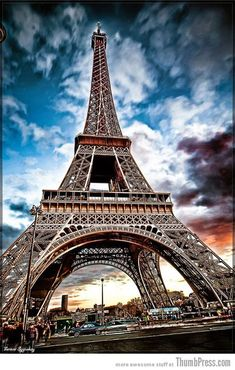 """The Trip Eiffel is really a symbol of Paris. It is the most identifiable function of the city and, in truth, the world. Located in the arrondissement, the Eiffel Tower was a marvel of """"contemporary"""" engineering. Eiffel Tower At Night, Paris Eiffel Tower, Eiffel Tower Restaurant, Paris Wallpaper, Iphone Wallpaper, Beautiful Paris, Triomphe, Belle Villa, Dream City"""