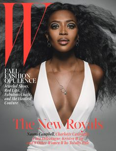 The New Royals: The Cover of <em>W</em> Magazine's October 2014 Issue - Naomi Campbell W Magazine October 2014
