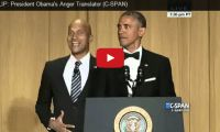 CLIP: President Obama's Anger Translator (C-SPAN) And guess who the anger translator is? Why Keegan-Michael Key of course, from Key & Peele. Check out Key, the angrier version of Obama's views on climate change and Hillary's campaign, at the White House...