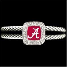 University of Alabama Cuff Bracelet Crimson Tide Fits Most Adult Sizes $14.99
