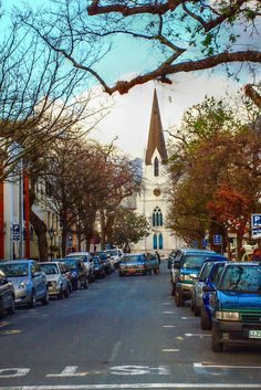 Kerk Street in Stellenbosch, South Africa. Still one of my favourite places to go on a Saturday or Sunday, even after living here most of my life. Places Around The World, The Places Youll Go, Places Ive Been, Places To Visit, Around The Worlds, Santa Cruz Bolivia, Cape Town South Africa, Africa Travel, Countries Of The World