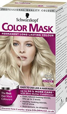 Schwarzkopf Colour Mask, Pearl Blonde Number 910 - Pack o…
