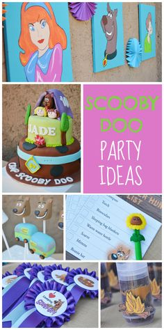 A Scooby Doo camping birthday party with painting, a scavenger hunt and movies!  See more party ideas at CatchMyParty.com!